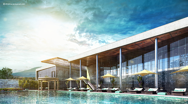 Club Pool Vray Exterior On Behance