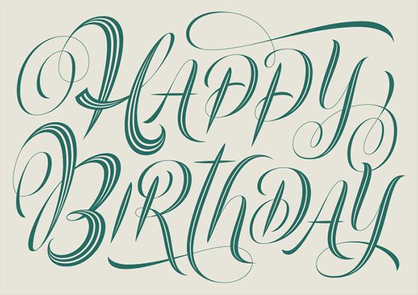 Happy Birthday Fonts ~ Harrods happy birthday on behance