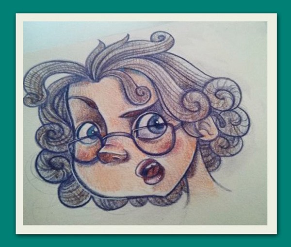 detective girl POLAROID guinea pig red hair ginger girl