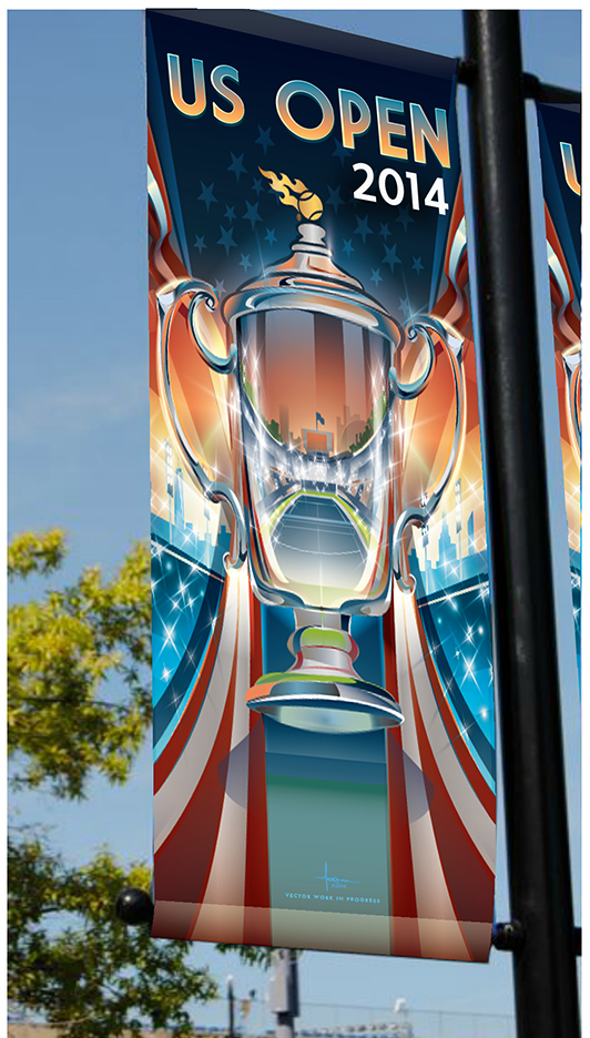 Us Open 2014 Concept Sketches On Behance