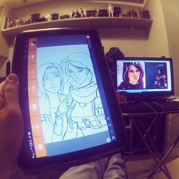 Athena and Janey (Borderlands fan art) on Behance