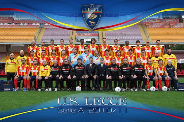 team poster U.S. Lecce salento Serie A serie B Lega Pro Rosa ufficiale squadra calcio football campionato