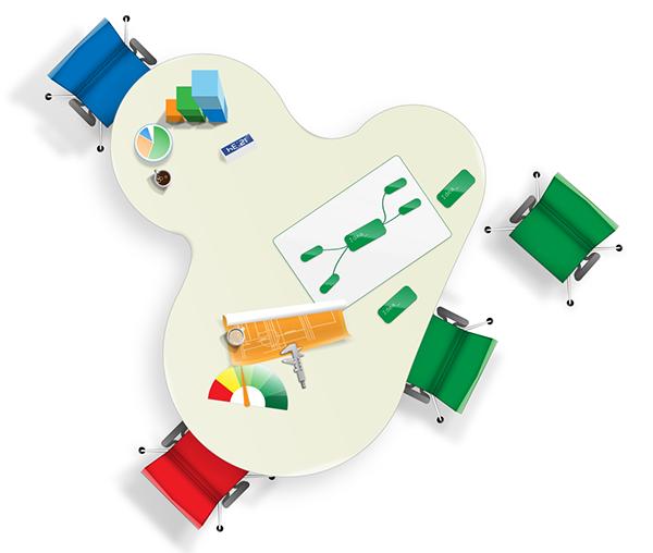 Инсталляционный пакет включает комплект ConceptDraw OFFICE, в который входя