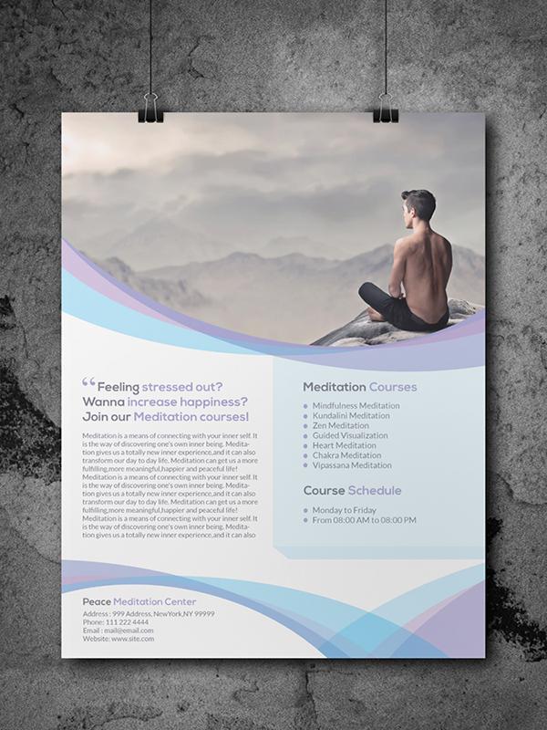 Meditation Flyer Meditation Flyer Templates