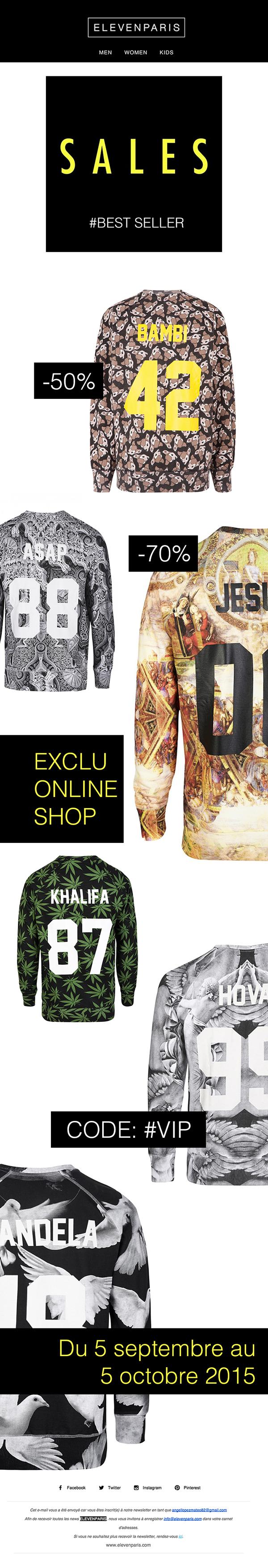 angellopez newsletter Mode Cloes Elevenparis streetwear