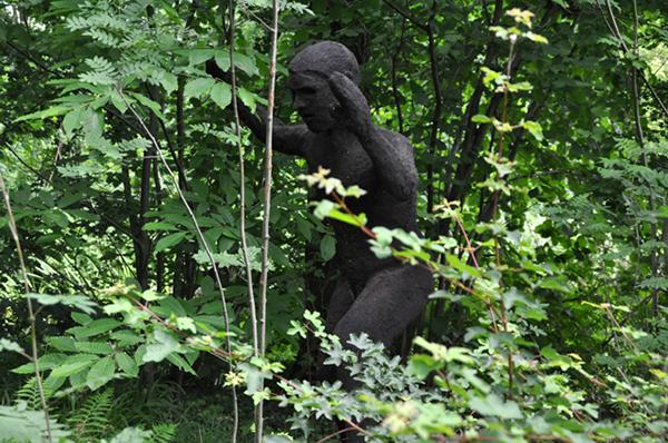 Zagara sculpture Evolving art Context related art public art Earthmen earth Leiderdorp Heemtuin