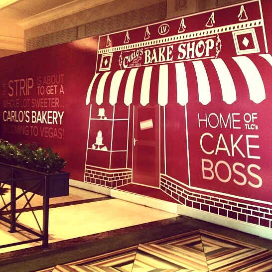 carlos bakery store Coming Soon promo store wrap bakery