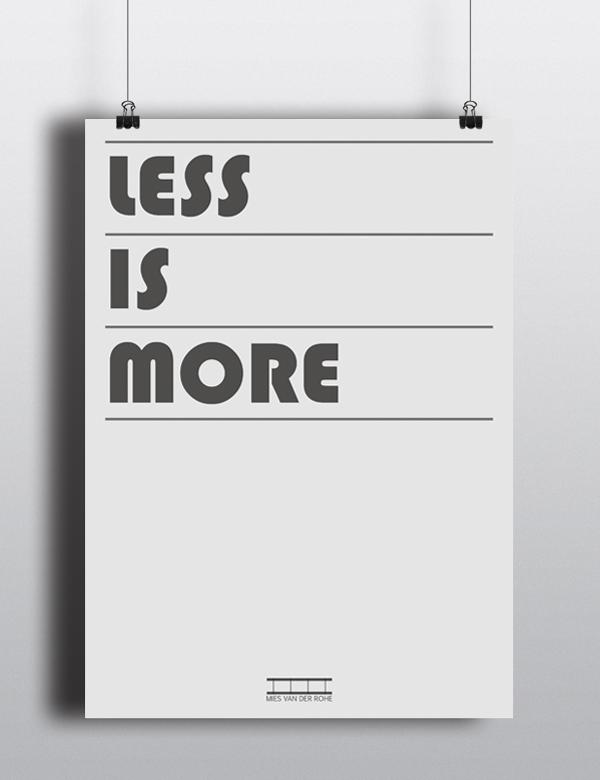 less is more by mies van der ruhe on behance. Black Bedroom Furniture Sets. Home Design Ideas