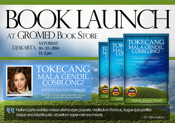 A5 book promotion flyer design psd templates on behance for Book signing poster template