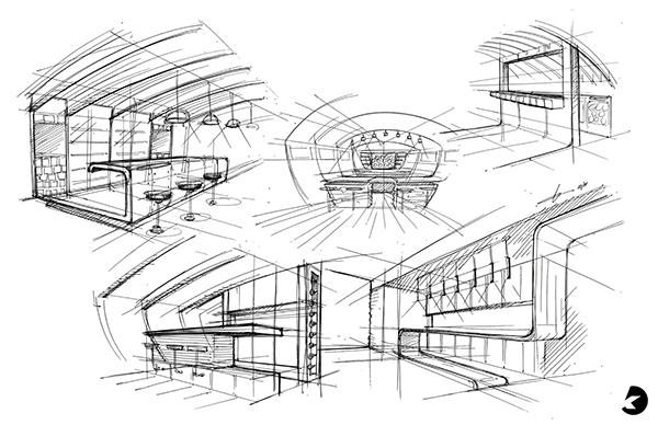 Yacht Bar Sketch // Tutorial on CCS Portfolios
