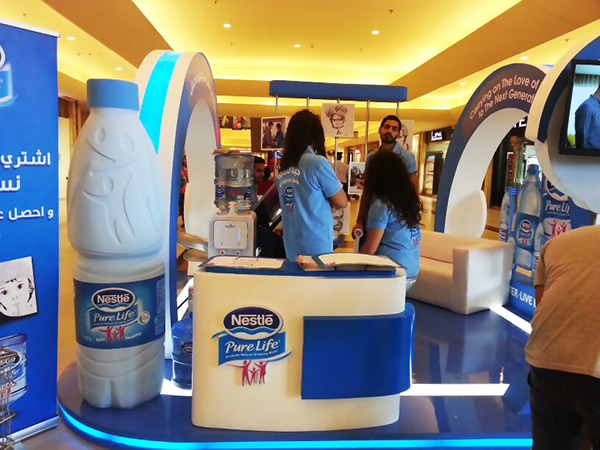 Nestle Exhibition Booth : Nestle pure life booth activation options on