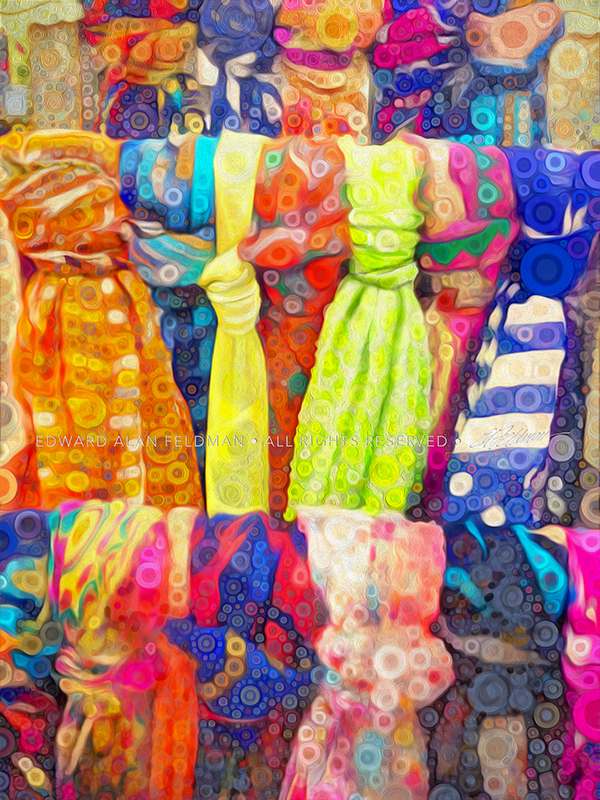 colorful,scarves