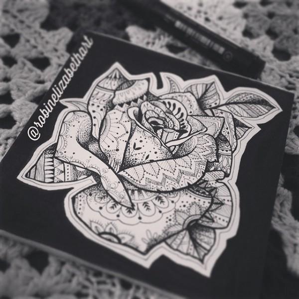 有獨特感的33套玫瑰花刺青欣賞