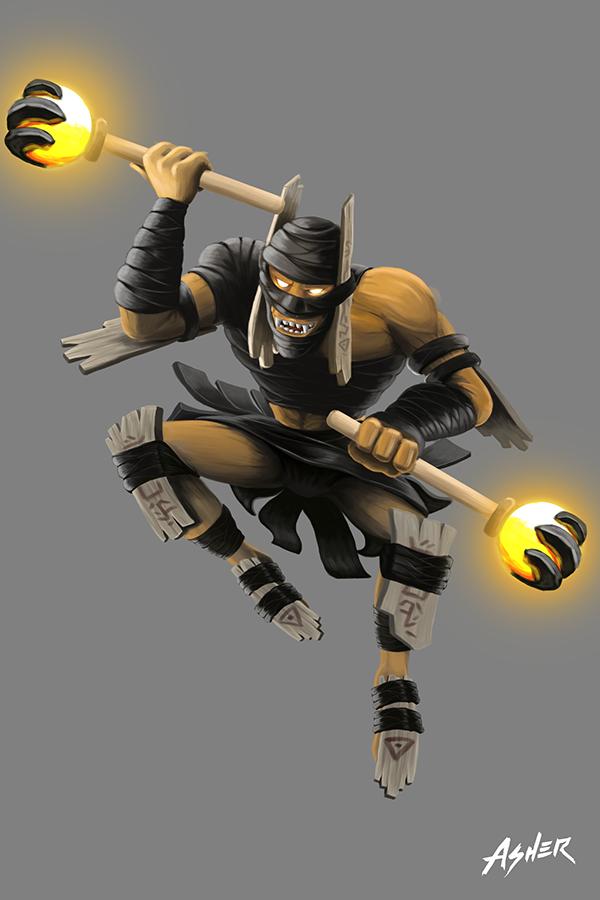 shadow shaman of dota 2 on behance