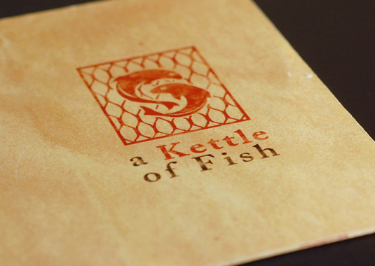 A kettle of fish restaurant menu on behance for Kettle of fish
