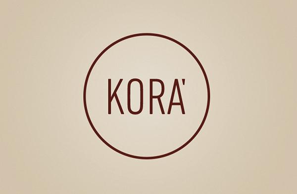 kora  brand  design  brown  circle  logo  gaphic design.