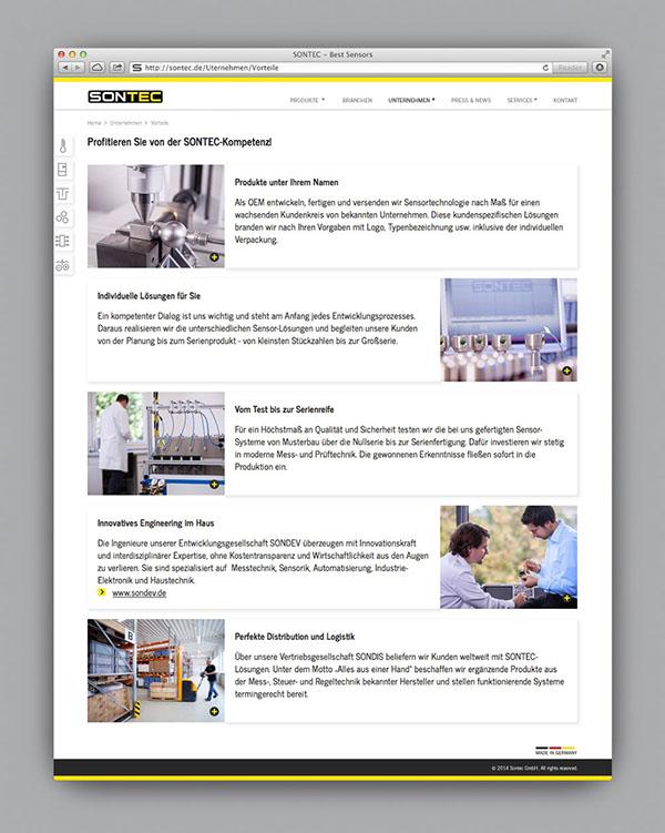 sontec Sensors Corporate Identity CI Website search engine Usability Web workshop photo identity
