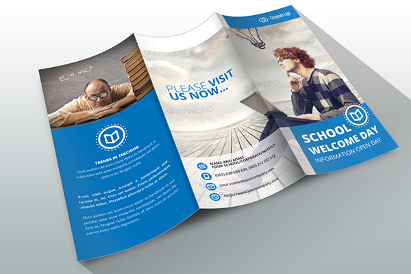 Indesign Brochure Template Business/School on Behance