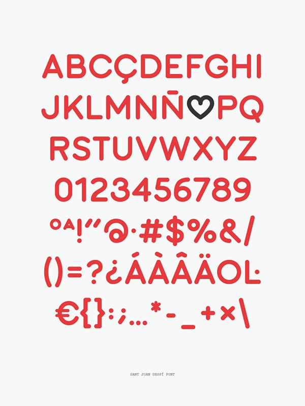 font free barcelona Love heart Typeface