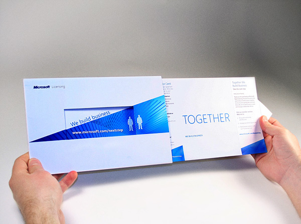 Microsoft direct mail piece on behance for Direct from the designers
