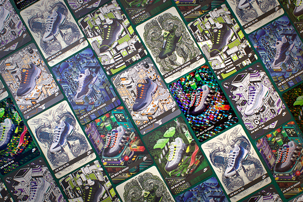 cf63ea9e015ec7 Nike Air Max 95 Collectables cards on Pantone Canvas Gallery