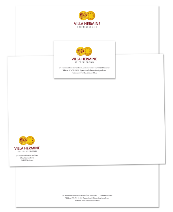 brand print stationary