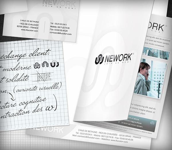 logo Corporate Identity charte graphique Indentité visuelle carte de visite plaquette print slider illucolor DUBAS Guillaume