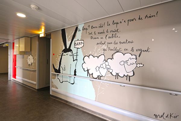 mel et kio wall design design mural hoptial Timone marseille