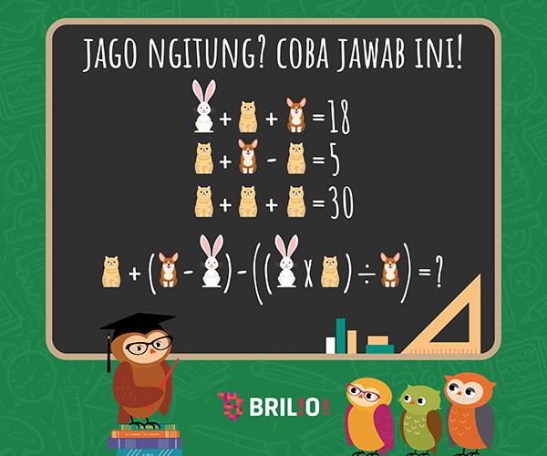 Math's challenge using illustrations of animals
