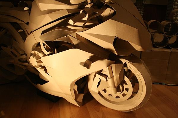Papercraft Cardboard Motorcycle On Behance
