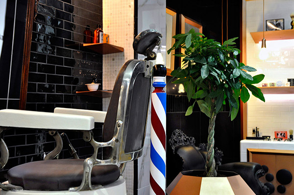 barber shop interior design concept for cevisama durstone ambience setting