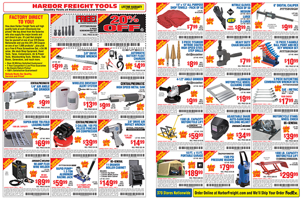 Harbor Freight Tools Catalog : Harbor freight tools on behance