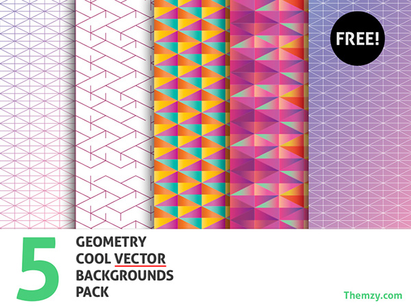Vector Geometry Backgrounds – Cool Pack (Free Download) on Behance