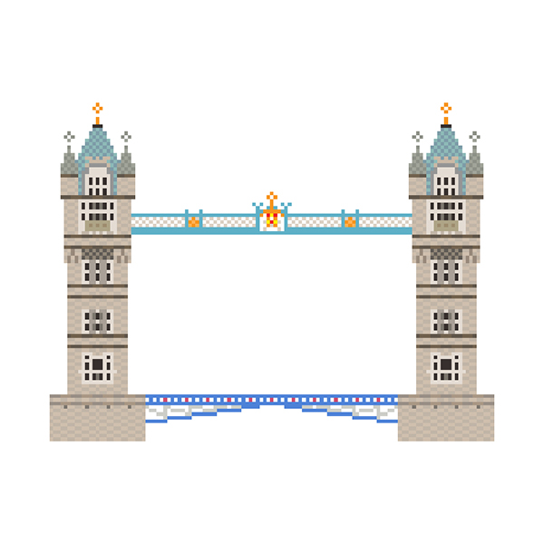 Character Design Jobs London : Pixel art the architecture series on behance