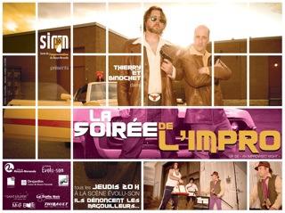 improvisation impro programme-souvenir carton vote