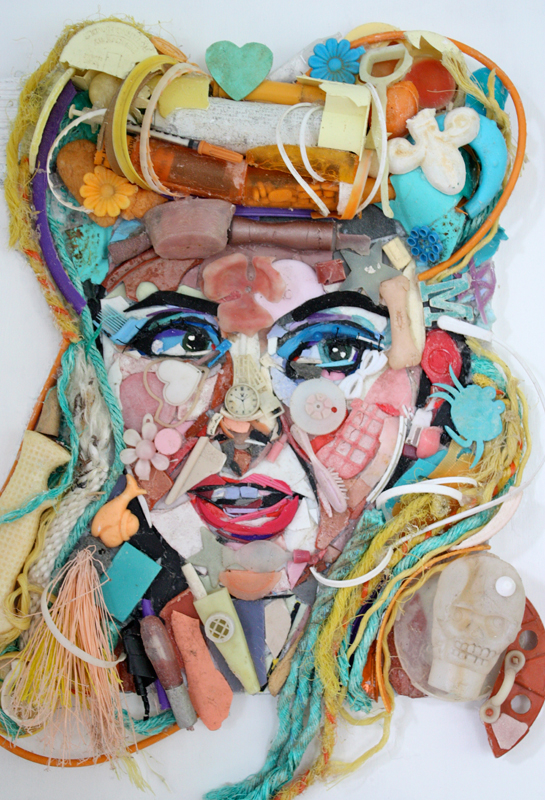 fine art  plastic debris  painting  environmental art
