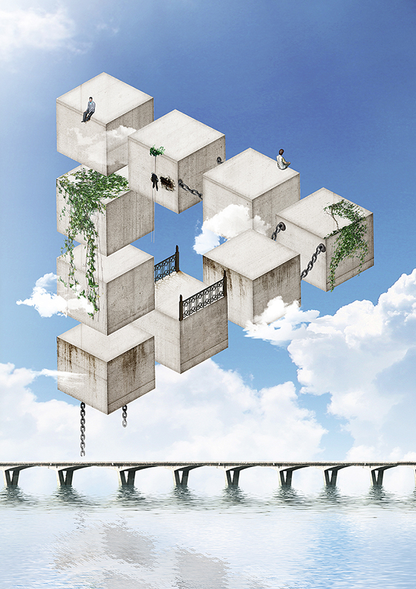 Impossible society on behance for Architecture impossible