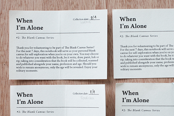participatory participative exploration audience notebook alone solitude