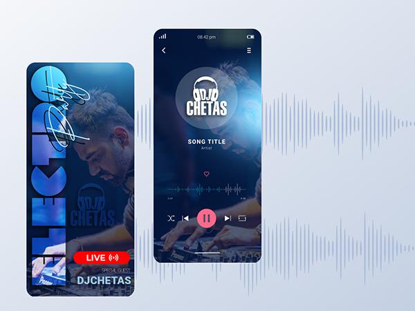 Check Behance Portfolio - Music Streaming App