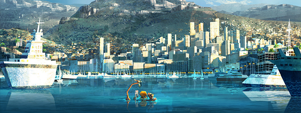 madagascar 3  zoosters arrive at monte carlo on behance