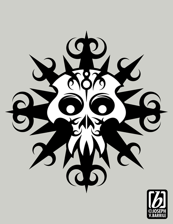 spike the tattoo skull on behance. Black Bedroom Furniture Sets. Home Design Ideas