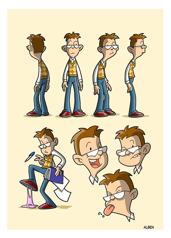 cartoon Character comic funny strip boy girl