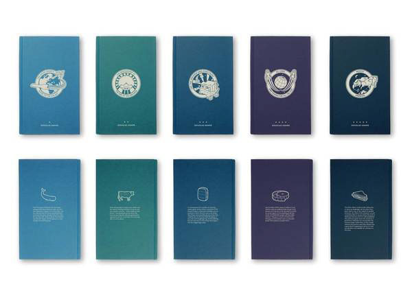 Book Cover Series Pdf ~ The hitch hiker s guide to galaxy book covers on behance