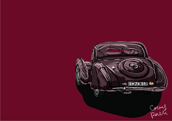 Iconic Classic Cars In Cartoon Style On Behance - Iconic classic cars