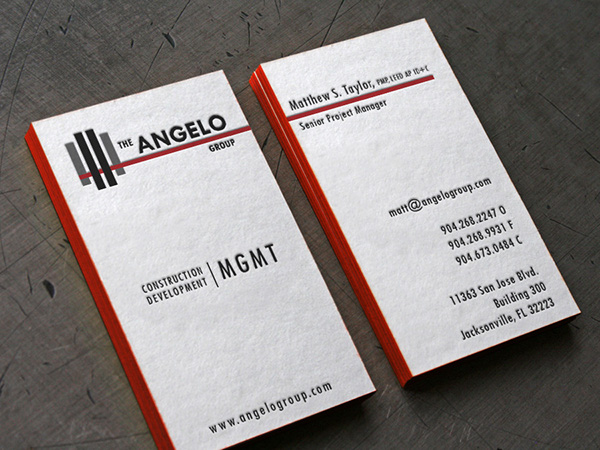 Letterpress business cards on behance reheart Choice Image