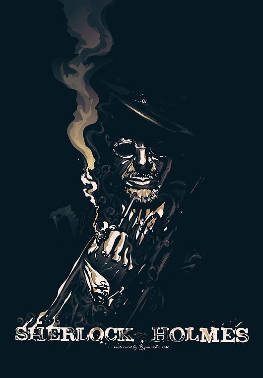 Sherlock Holmes vector movie fanart