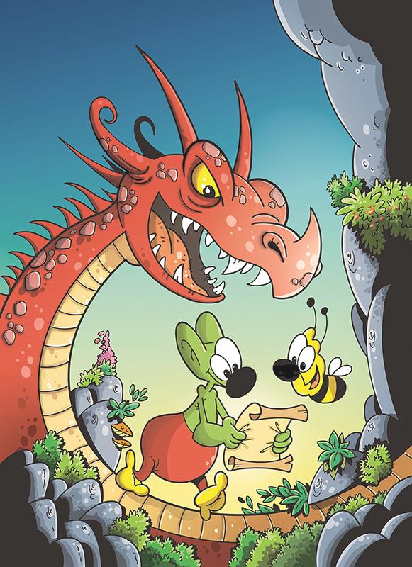 comics kid children dragon sedmikraskov daizyvale ILLUSTRATION  komiks ilustrace DETI