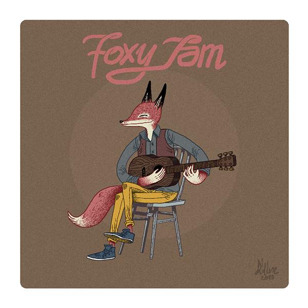 FOX foxy jam crystal fighter Space  Pug dog ice cream sea Ocean winter girl Snowboarding accordion skull bones didiusz