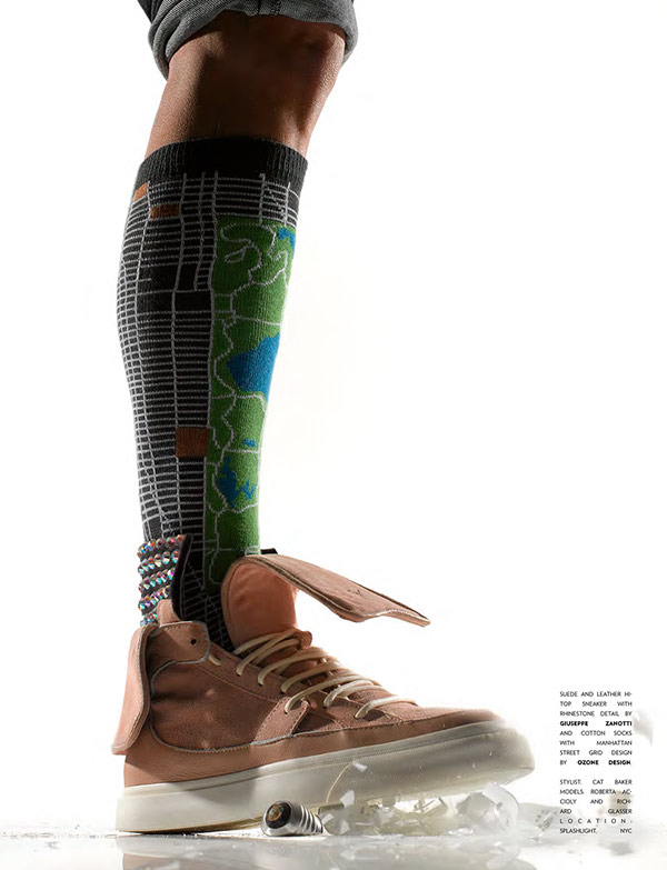 sneakers magazine Flaunt magazine. creative cristian loubotin Nike adidas Louis vuitton