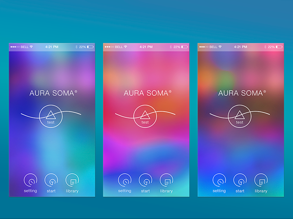 Test Aura Soma (Mobile Interface Design) on Wacom Gallery